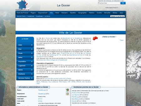 LE GOSIER - Carte plan hotel ville de Le Gosier...