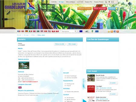 MARIFA - LE GOSIER - Fiche : hôtel - Les îles de ...