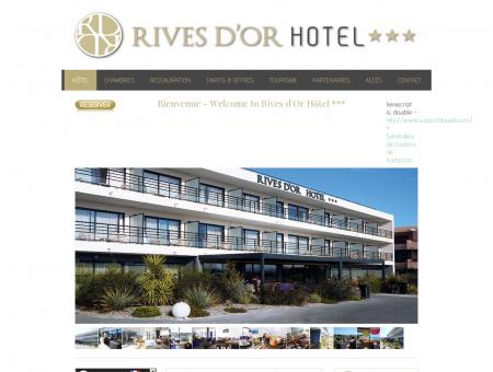 Bienvenue - Rives d'Or Hotel*** Réservez votre...