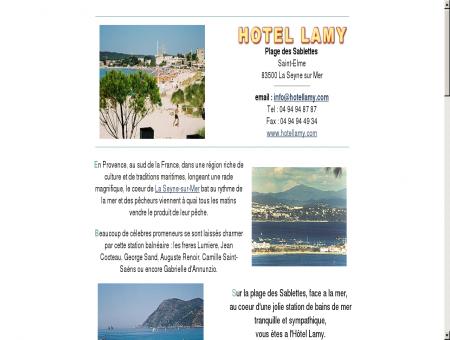 Hôtel Lamy - Les Sablettes - La Seyne sur Mer ...