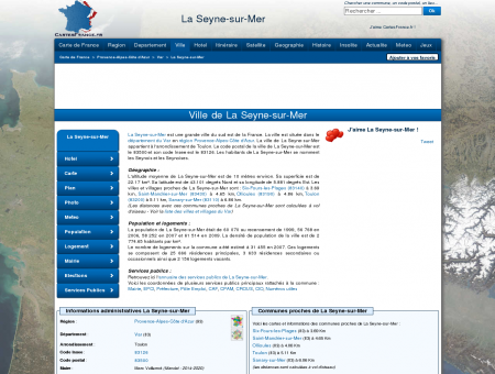 LA SEYNE-SUR-MER - Carte plan hotel ville de...