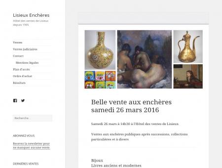 Lisieux Enchères, Hôtel des ventes de Lisieux...