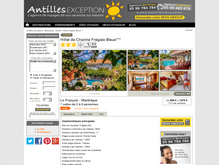 Hôtel charme Martinique Frégate Bleue, Le...