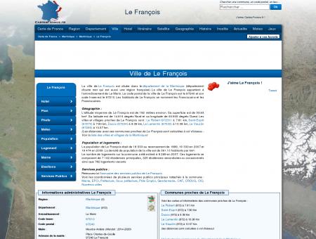 LE FRANCOIS - Carte plan hotel ville de Le...