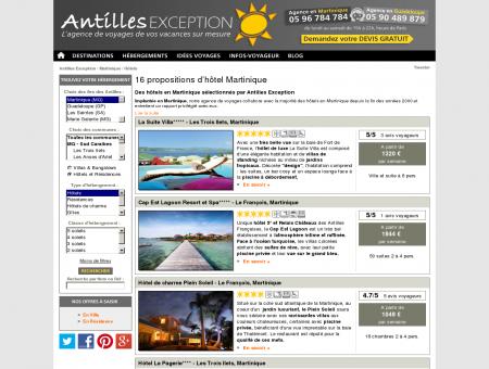 Sélection Hotel Martinique - Antilles Exception