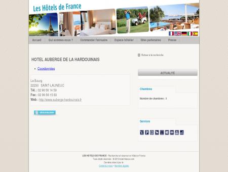 Hotel HOTEL AUBERGE DE LA HARDOUINAIS...
