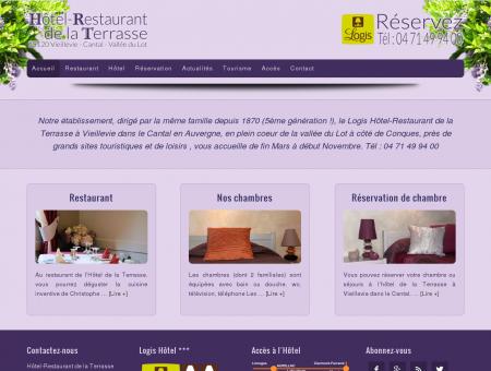 Hôtel Restaurant de la Terrasse à Vieillevie,...