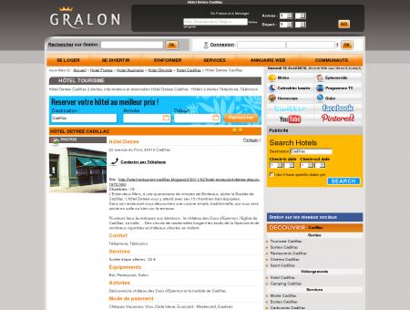 Hôtel Detree Cadillac - Gralon : Guide...