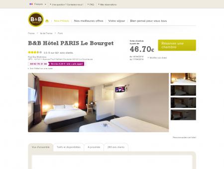 B&B-Hôtel pas cher Paris Le Bourget : hôtel...