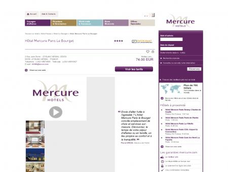 Hotel LE BLANC MESNIL - Hôtel Mercure Paris...