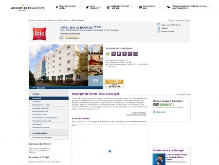 Hôtel à LA COURNEUVE - ibis Le Bourget -...
