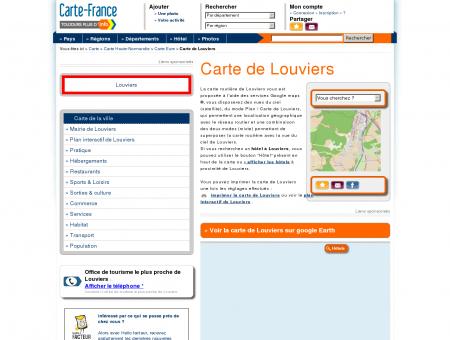 Carte et plan de Louviers 27400 : Hôtel,...
