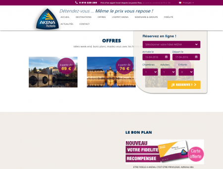 Hôtel Akena | Hôtels 2 et 3 étoiles en France et...
