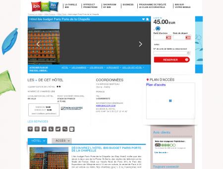 Hotel pas cher Paris - ibis budget Paris Porte...