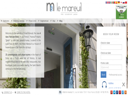 Le Mareuil Hotel - Official web site