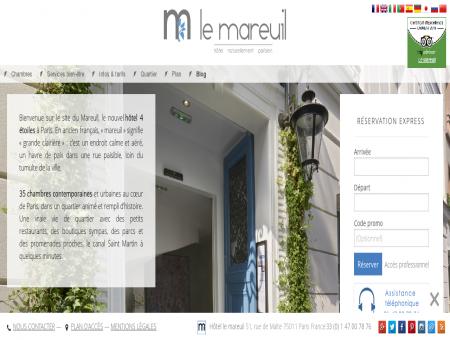 Le Mareuil Hotel - Site officiel
