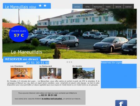 hotel Le Mareuillais 2 étoiles en vendée à 5 mn...