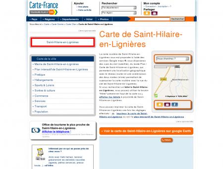 Carte et plan de Saint-Hilaire-en-Lignières...