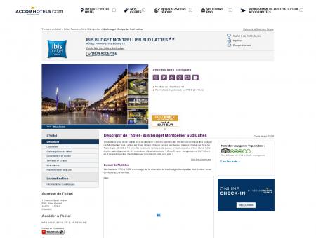 Hôtel à LATTES - ibis budget Montpellier Sud...
