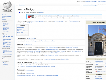 Hôtel de Marigny  Wikipédia
