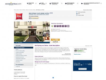Hotel in EPINAY SUR SEINE - ibis Epinay sur Seine
