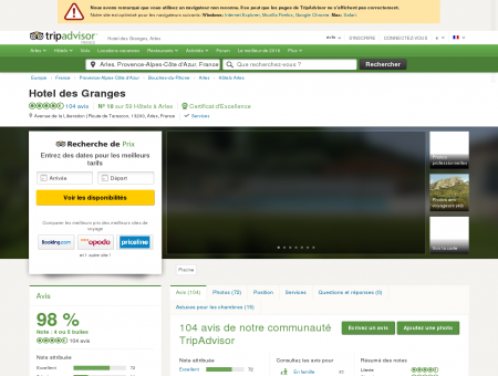 Hotel des Granges (Arles) : voir 101 avis et 43...