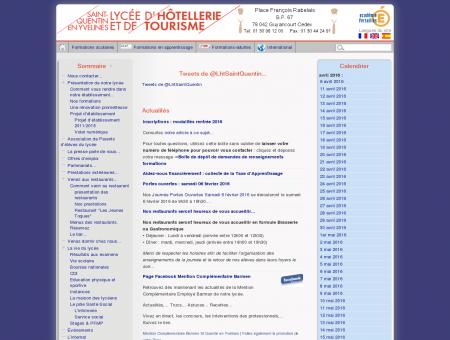 lycée hôtellerie tourisme St Quentin en Yvelines...