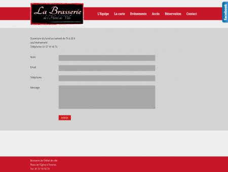 Contact « Brasserie de l'Hôtel de Ville  Fresnes