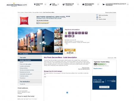 Hotel in GENNEVILLIERS - ibis Paris Gennevilliers