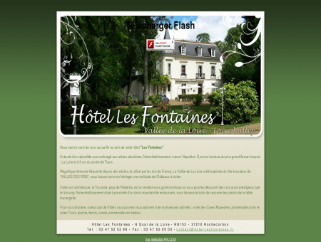 Hôtel Les Fontaines, hotel vallée de la loire