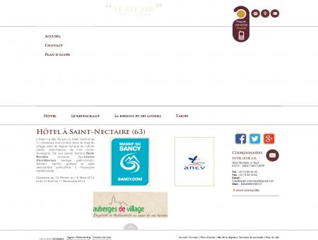 Hôtel, restaurant  Sancy   Hôtel le Bel Air