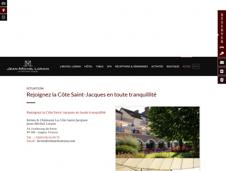 Hôtel restaurant gastronomique Joigny - Accès...