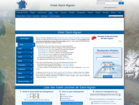 HOTEL SAINT-AIGNAN : Réservation hôtels...
