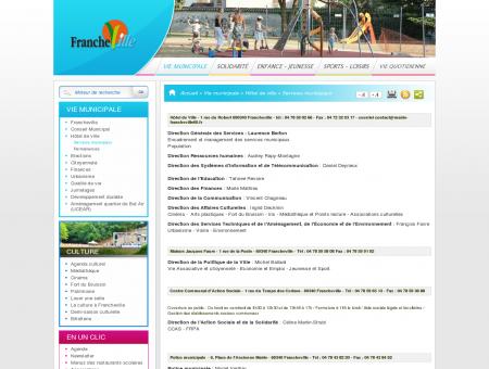 Services municipaux - Bienvenue sur le site...