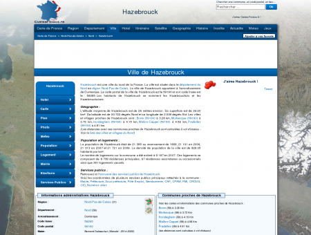 HAZEBROUCK - Carte plan hotel ville de...