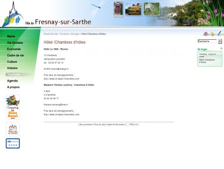Hôtel /Chambres d'hôtes - Fresnay sur Sarthe