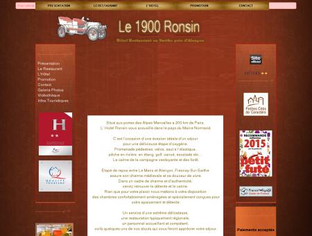 hotel restaurant Sarthe - Le 1900 Ronsin