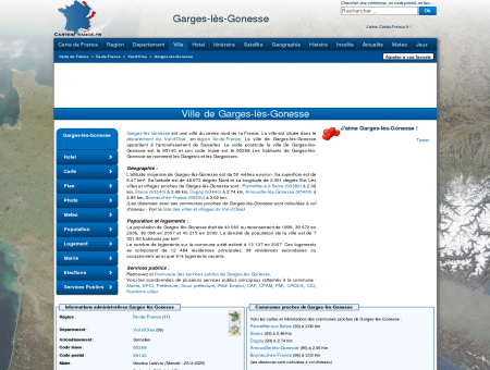 GARGES-LES-GONESSE - Carte plan hotel ville...