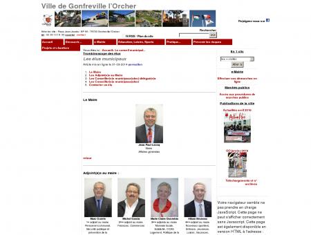 Les élus municipaux - Ville de Gonfreville l'Orcher