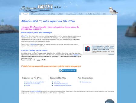 Atlantic Hôtel - Hôtel 3 étoiles sur l'Île d'Yeu,...