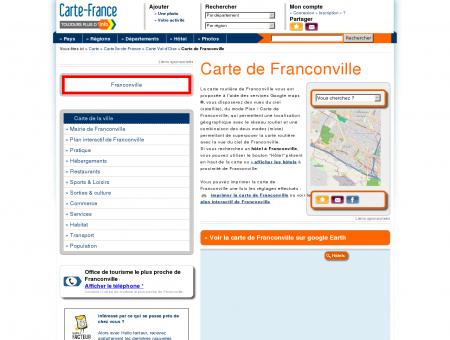 Carte et plan de Franconville 95130 : Hôtel,...