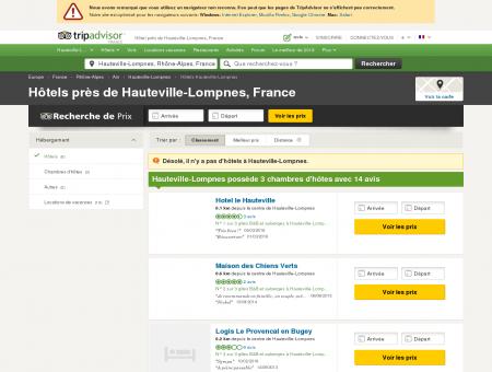 Hôtel près de Hauteville-Lompnes, France -...