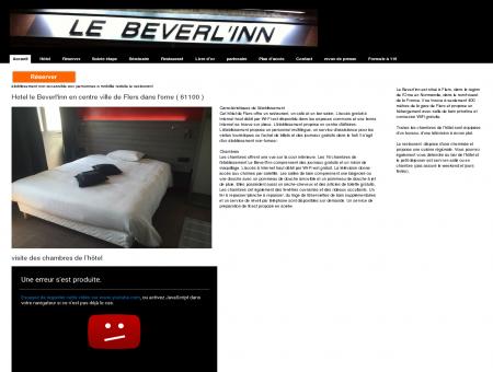 Accueil - Hotel le beverlinn soirée étape a Flers...