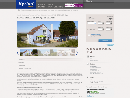 Hotel Kyriad Le Touquet-Etaples | Hotels Kyriad