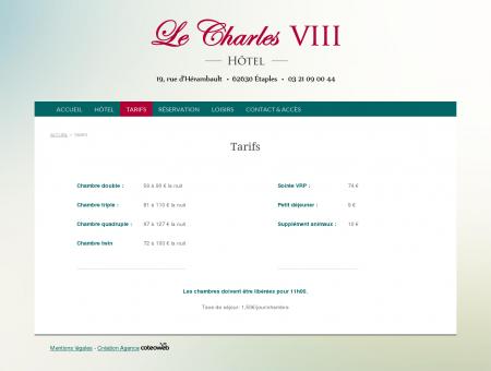 Hôtel Restaurant Le Charles VIII, Etaples le...