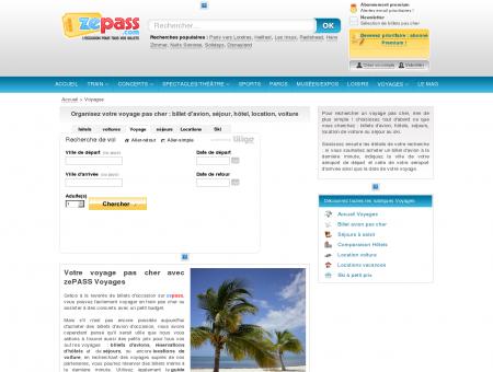 ZePASS Voyages : billet d'avion, hôtel, séjour et ...
