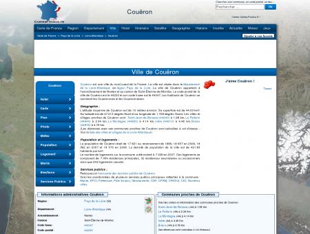 COUERON - Carte plan hotel ville de Couëron...