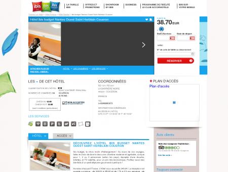 Hotel pas cher COUERON - ibis budget Nantes...