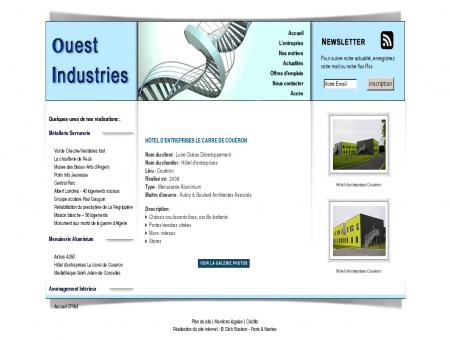 Ouest Industries : métallerie / serrurerie, Hôtel...