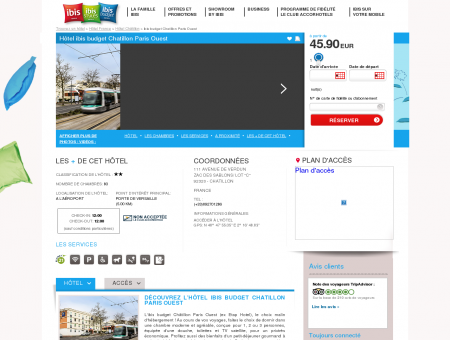 Hotel pas cher CHATILLON - ibis budget...